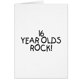 16 Year Olds Rock Greeting Cards