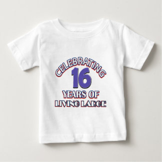 16 years birthday designs baby T-Shirt