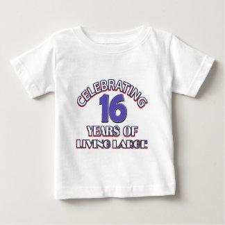16 years birthday designs t shirts