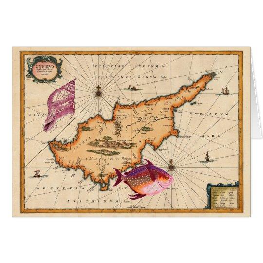16th/17th Century Nautical Map Happy Birthday Card