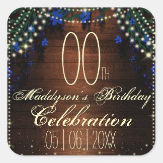 16th 18th 21st 30th 40th 50th 60th 70th Birthday Square Sticker