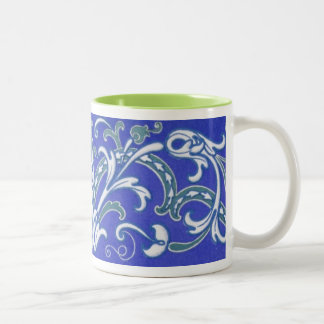 16th and 17th Century Vintage Pattern Two-Tone Mug