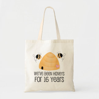 16th Anniversary Couple Gift Tote Bag