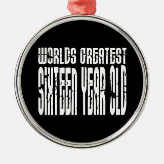 16th Birthday 16  Worlds Greatest Sixteen Year Old Christmas Ornament
