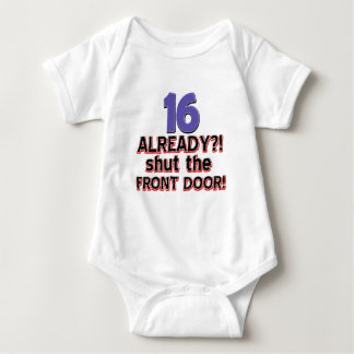 16th birthday designs baby bodysuit