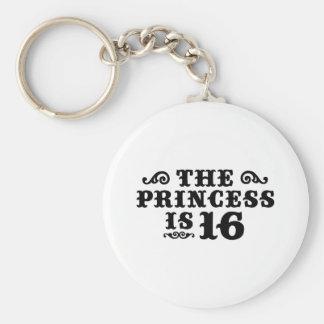 16th Birthday Key Ring