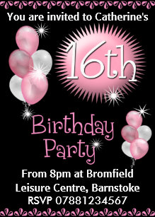 16th birthday invitations announcements zazzle 16th birthday party invitation filmwisefo