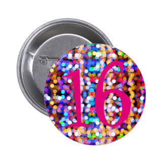 16th Birthday Pink Colourful 6 Cm Round Badge