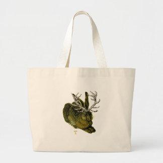 16th century Jackalope Canvas Bags