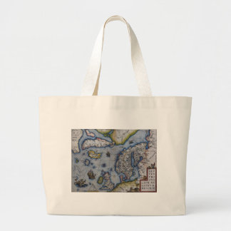 16th Century Map of Scandinavia Large Tote Bag