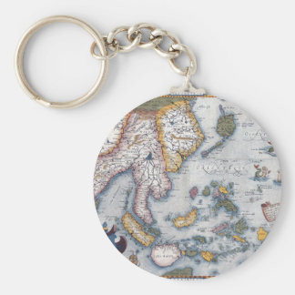 16th Century Map of South East Asia and Indonesia Key Ring