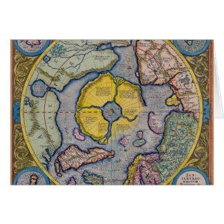 16th Century Mercator North Pole Map Greeting Cards
