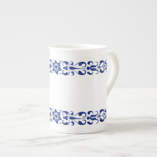 16th Century Roman Blue Ornamental Design Tea Cup