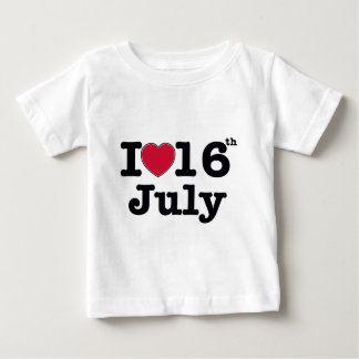 16th july my day birthday tee shirt