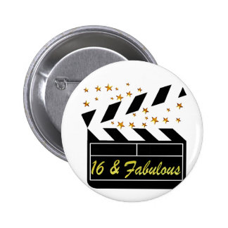 16TH MOVIE QUEEN 6 CM ROUND BADGE