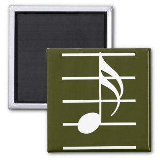 16th note 2 square magnet