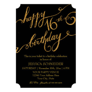16th Sweet Sixteen Sixteenth Birthday Party Ticket Custom Invite
