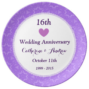 16Th Wedding Anniversary | For 16th Wedding Anniversary Gifts Zazzle Co Uk