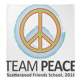 16TPWCB Bandana w/Team Peace Watercolor Logo