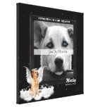 16x16-inch Pet Memorial Photo with Golden Dog Stretched Canvas Prints
