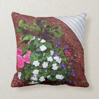 16x16 Polyester Throw Pillow with flowers Cushion