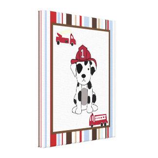 16x20 Canvas Art Nursery Print Nojo Fire Engine Canvas Print