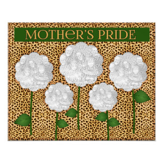 16x20 Mother's Pride Cheetah Print Photo Collage