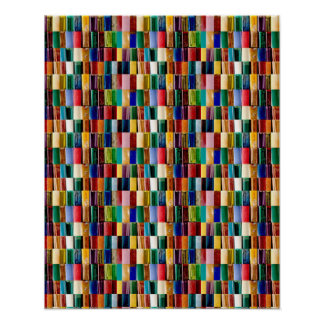 """16x20"""" TILE Poster Colourful Embossed look Line"""