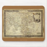 1700 ANTIQUE World MAP Mousepad