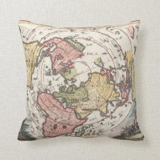 1700 World Map Pillow