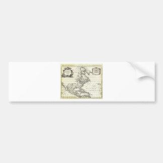 1708 De L Isle Map of North America Covens and Mo Bumper Stickers