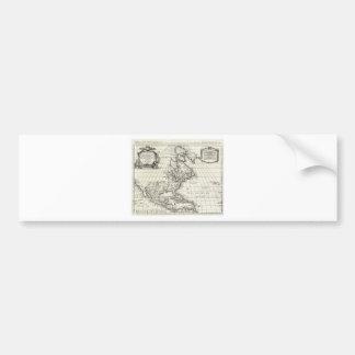 1708 De LIsle Map of North America Covens and Mo Bumper Sticker