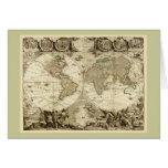 1708 World Map by Jean Baptiste Nolin
