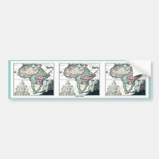 1720 Africa Vetus Map Car Bumper Sticker