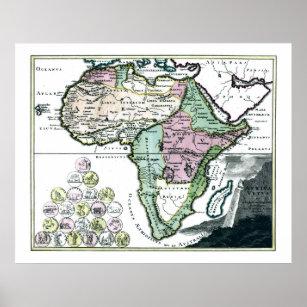 1720 Africa Vetus Map Poster