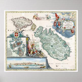 1720 Malta Map Poster