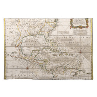1720 Map of the West Indies by Emanuel Bowen Place Mats