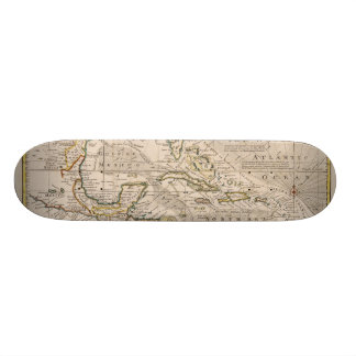 1720 Map of the West Indies by Emanuel Bowen Skate Deck