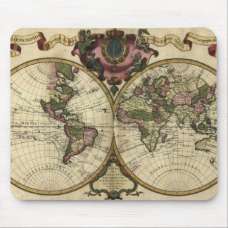 1720 Old World Map Mousepad