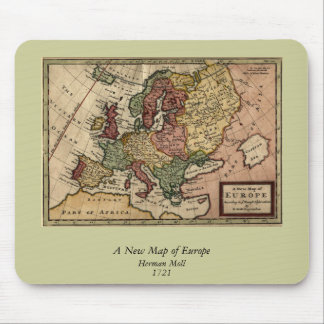 1721 Map of Europe Mouse Mat