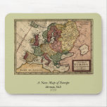1721 Map of Europe Mousemat