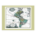 1725 South and North America Map Postcards