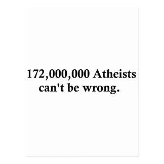 172,000,000 Atheists Postcard