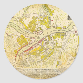 1737 map of Saint Petersburg Round Sticker