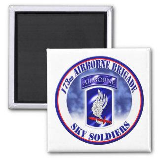173rd Airborne Brigade Combat Team 001 Square Magnet