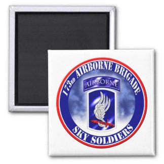 173rd Airborne Brigade Combat Team 002 Square Magnet