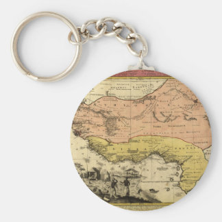 1743 West Africa Map Key Ring