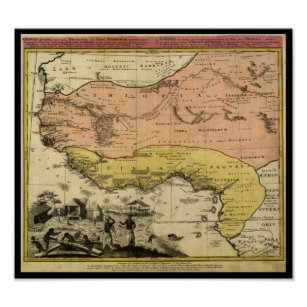 1743 West Africa Map Poster