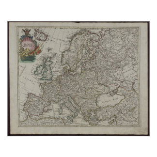 1745 Russian Academy Map of Europe Poster