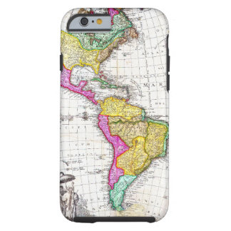 1746 Homann Heirs Map of South North America Tough iPhone 6 Case